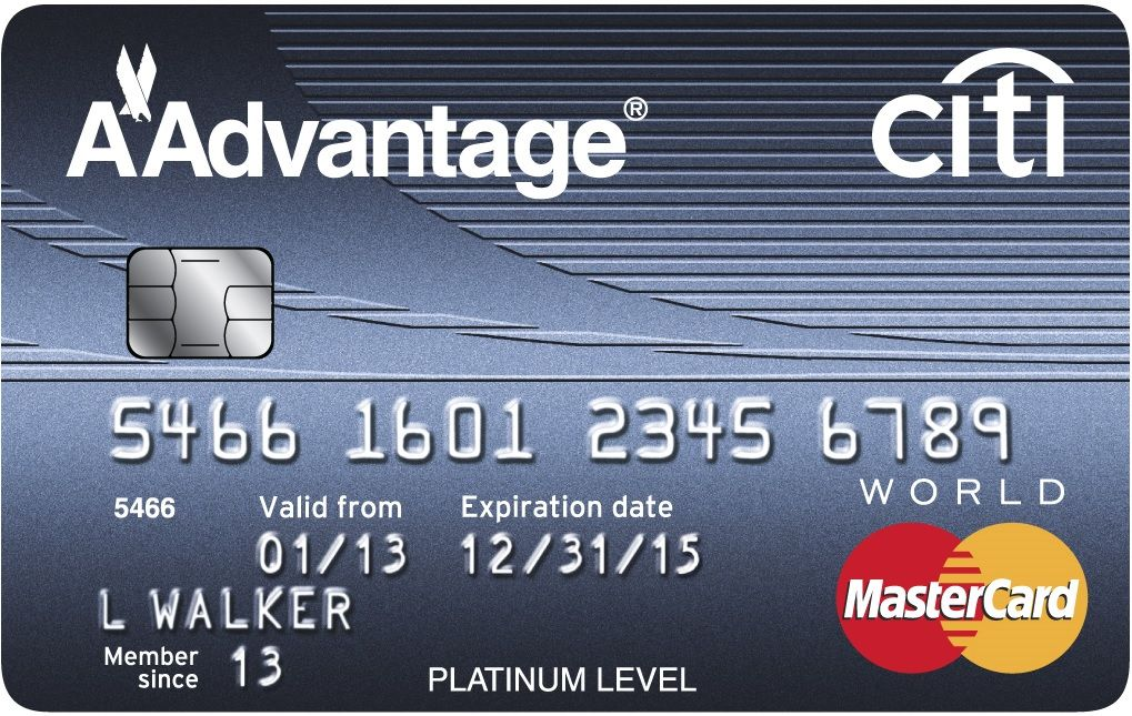 American Airlines Citi Aadvantage Platinum Select Mastercard